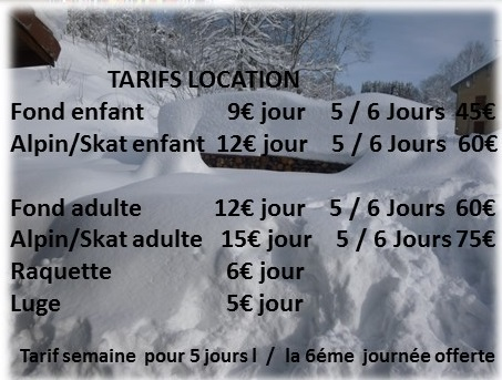 tarif commune1 Alain BOURGEOIS   Location de skis