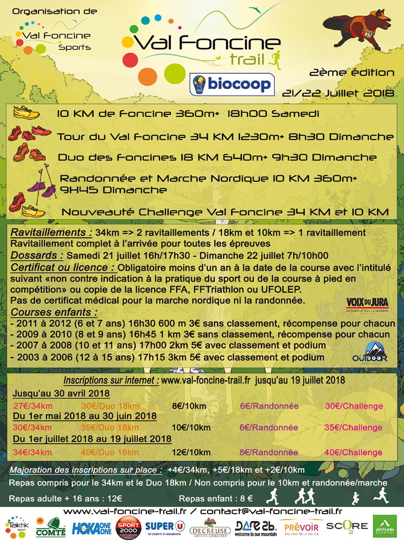 flyer A5 recto verso 1502 Val Foncine TRAIL 2ème Edition
